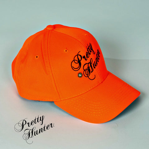 Blaze Orange Pretty Hunter Logo Hat