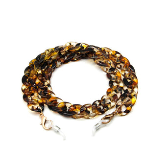 "CHAINT - Multicolor Maskenkette aus Acryl ""Amber Gold"" - CHAINT"