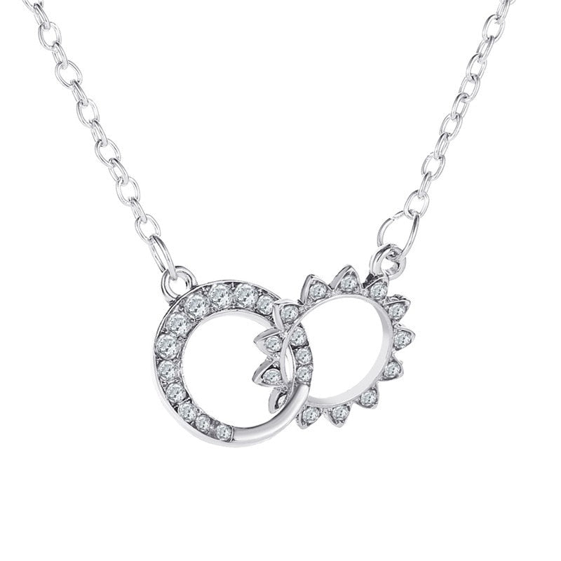 New Design Double Circle Round Necklace
