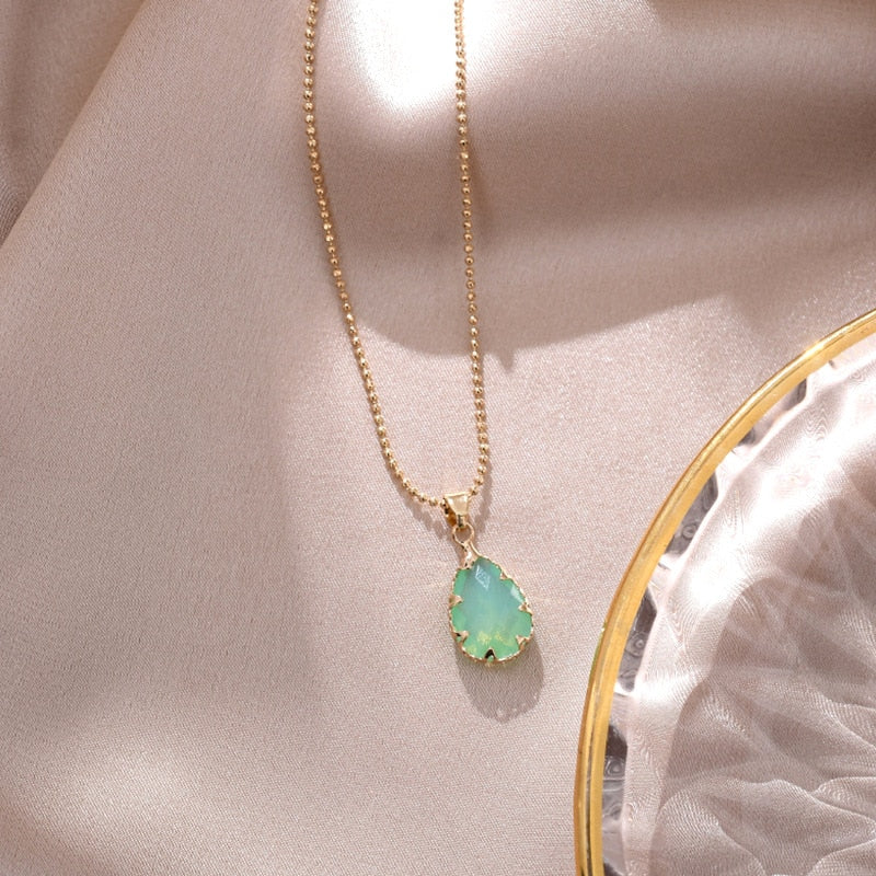 Luxury Colorful Crystal Pendant Necklace