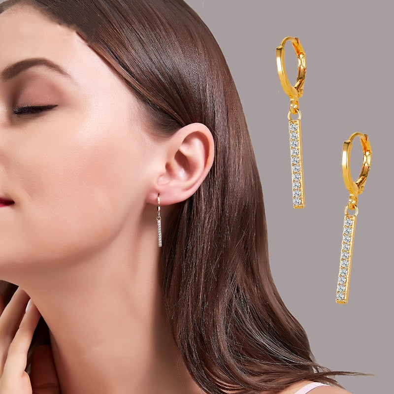 High Class Gold Hanging Dangle Earrings