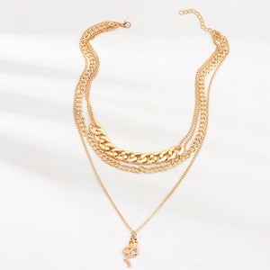 Luokey Fashion Gold Color Snake Pendant Necklace Thick Big Chunky Chain Choker Necklace Statement Collier Jewelry Gift For Women