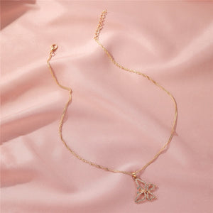 Best Selling Gold Butterfly Necklace With Simple Elegant Clavicle Chain