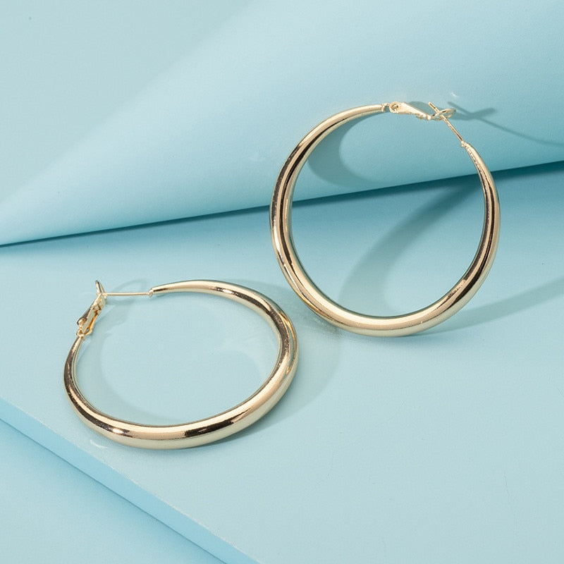 Punk Big Hoop Earrings Brincos Delicate Minimalist