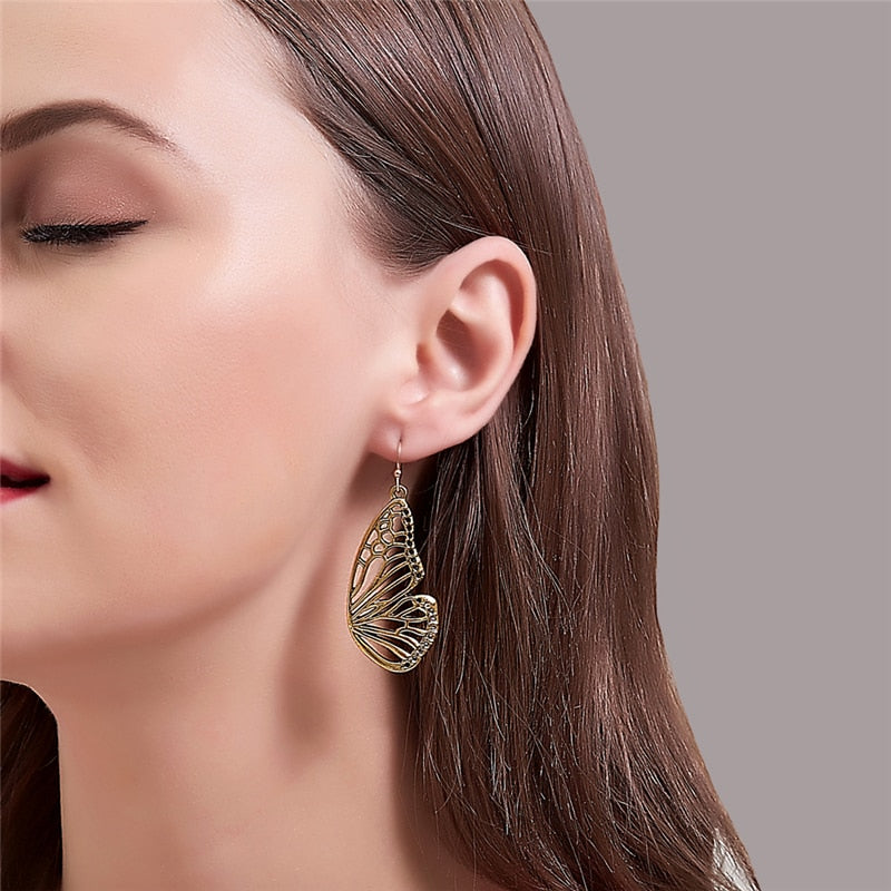 Classic Butterfly Wings Earrings Vintage Statement