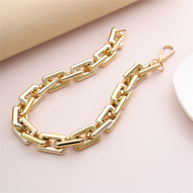 Luokey New Exaggerated Choker Collar Big Thick Chain Necklace For Women Gold Silver Color Punk Gothic Collier Jewelry Wholesale
