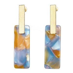 Statement Jewelry Big Long Vintage Simple Acrylic Dangle Classic Geometric Earrings  (Color 1)