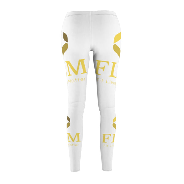 White Fit Lives Matter Leggings