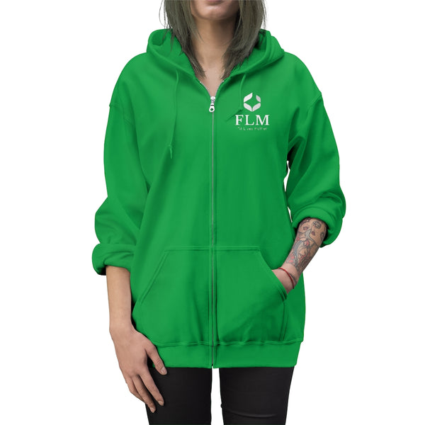 Green Unisex Fit Lives Matter Zip Up Hoodie