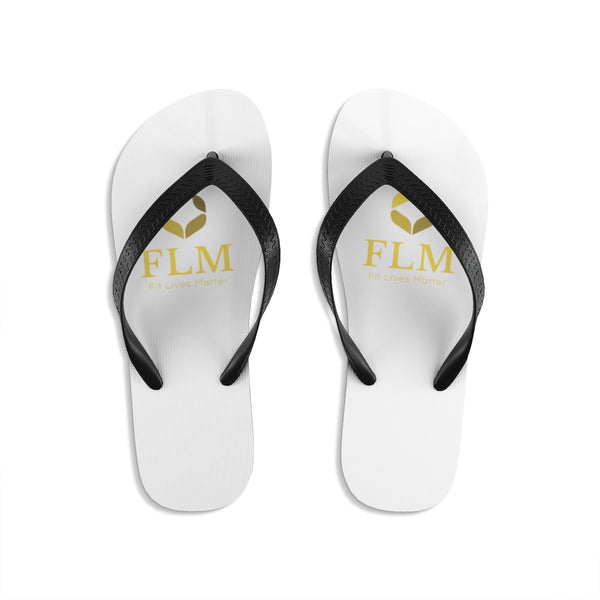 White Fit Lives Matter Unisex Flip-Flops