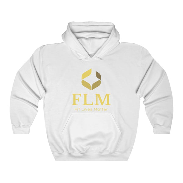 White Fit Lives Matter Hooded Sweatshirt