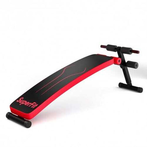 Red Folding Adjustable Workout Weight Bench