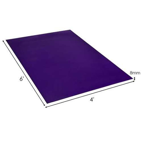 Large Yoga Mat 6' x 4' x 8 mm Thick Workout Mats-Purple