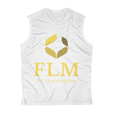 White Men's Sleeveless Performance Tee