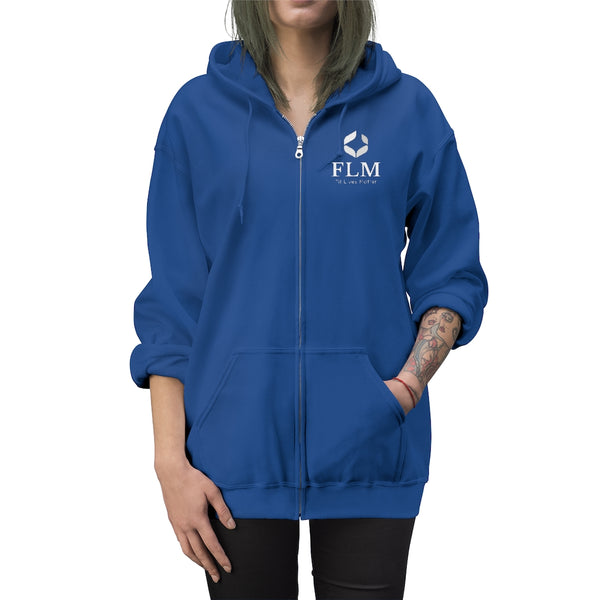 Blue Unisex Fit Lives Matter Zip Up Hoodie