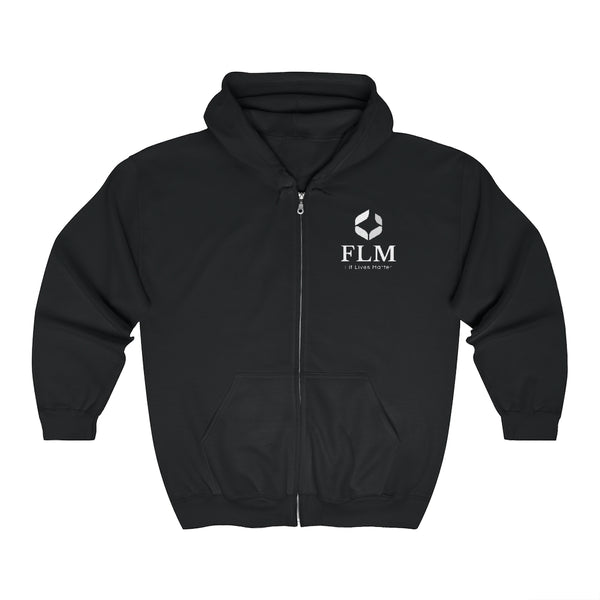 Black Fit Lives Matter Zip Up Hoodie