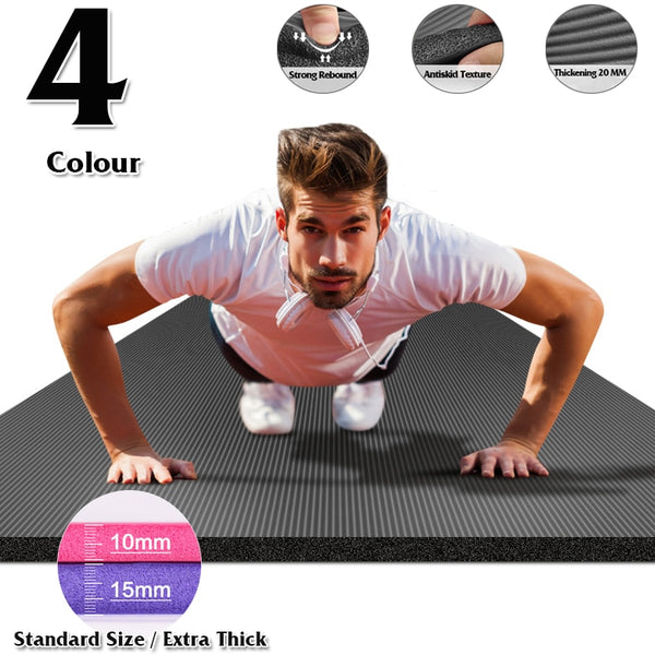185X80 Big Size Gym Workout Yoga Mat For Men