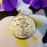 gold saint christopher pendants for men