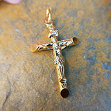 men's gold crucifix pendant