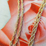 men's gold rope and prince of wales chains