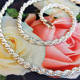 women's rope chain in silver