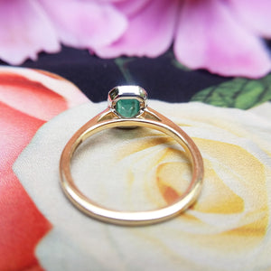 under gallery view of emerald ring