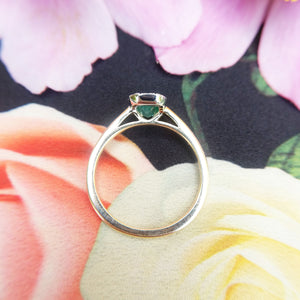 profile view of diamond cluster ring