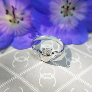 solid silver claddagh ring