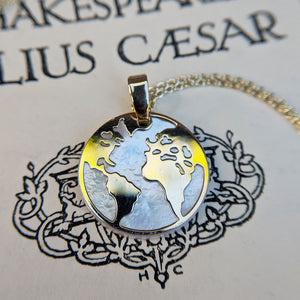 earth world pendant necklace