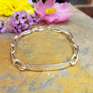 men's plate bracelet for engraving