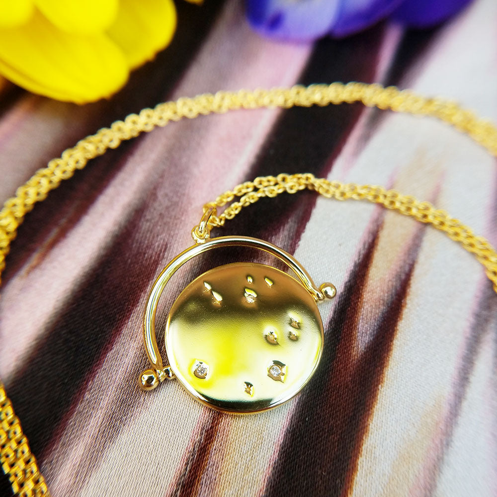 stars constellation disc necklace