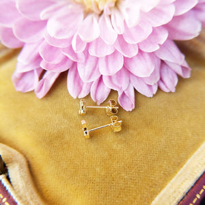 small cross earrings with sapphire