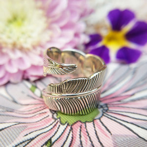 women's feather ring
