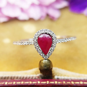 close up of ruby ring