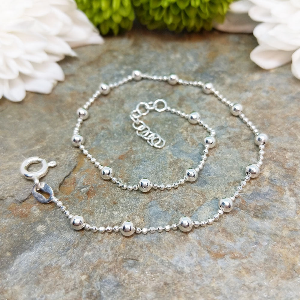 sterling silver anklet 9 inches