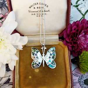 butterfly necklace in 925 silver