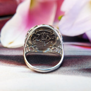 small st george ring for men