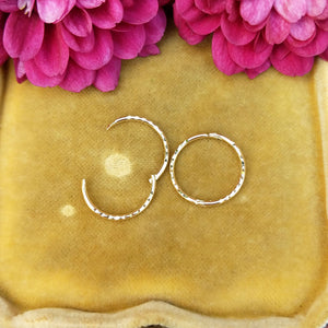 solid 9ct yellow gold sleeper hoops