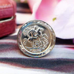 sterling silver half sovereign size ring