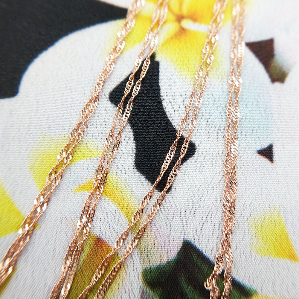 9ct rose gold singapore chain for pendants
