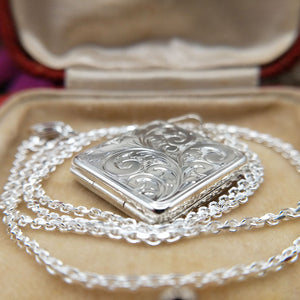 made in Britain silver locket