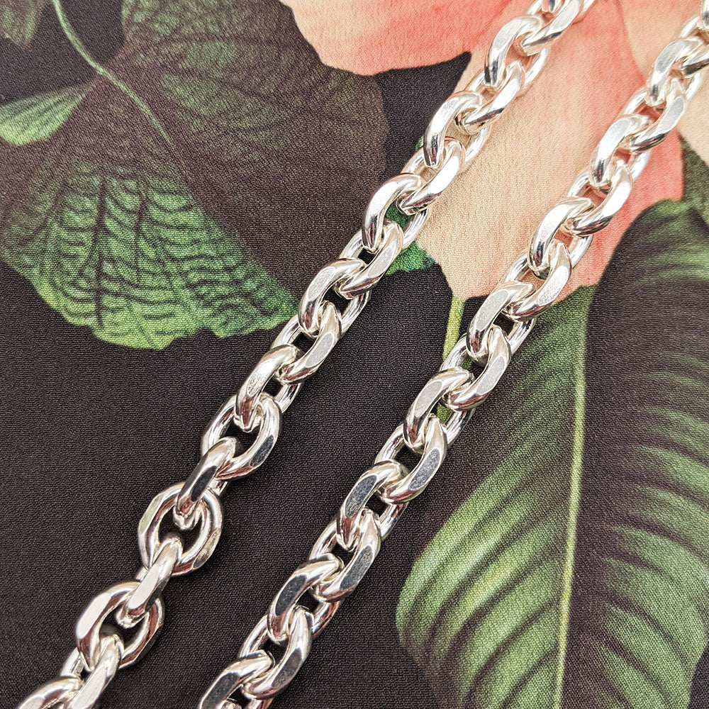 solid heavy belcher chain necklace