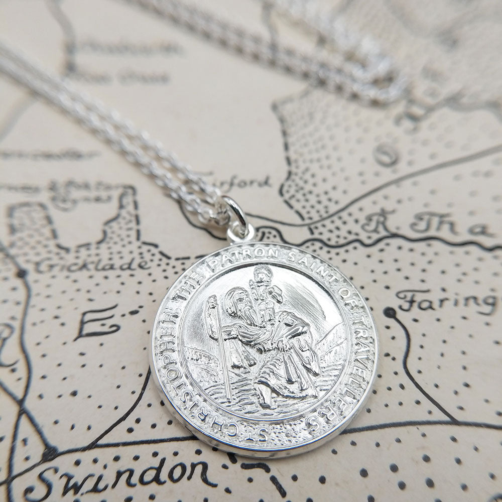 personalised your st christopher necklace for free