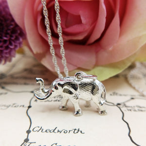 solid silver elephant charm with full UK hallmarks
