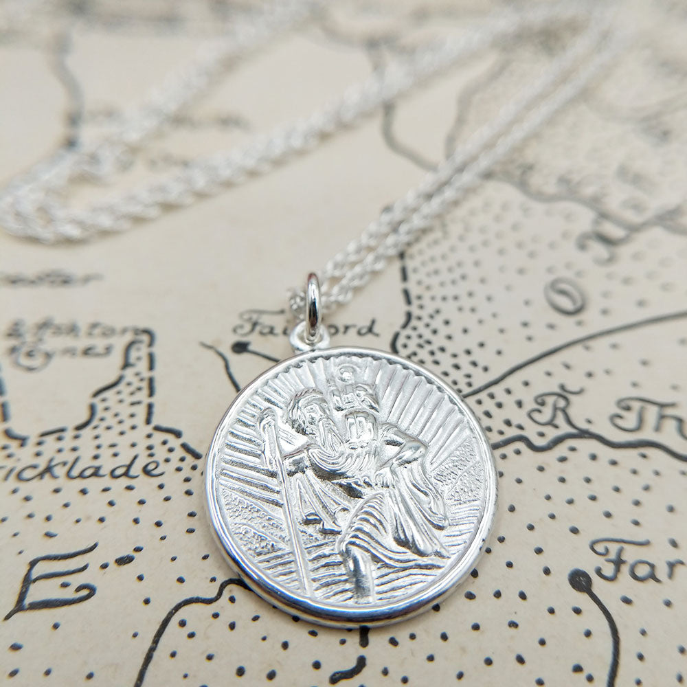 engraveable st christopher necklace
