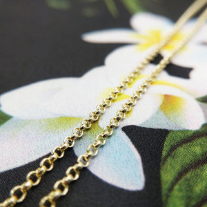women's fine gold belcher chain