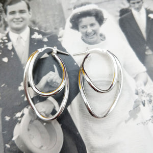real silver hoop earrings for women