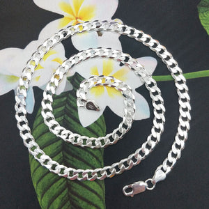 6.5mm wide curb chain for men