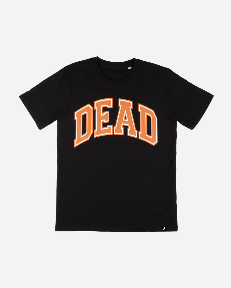 COLLEGE T-SHIRT BLACK / ORANGE