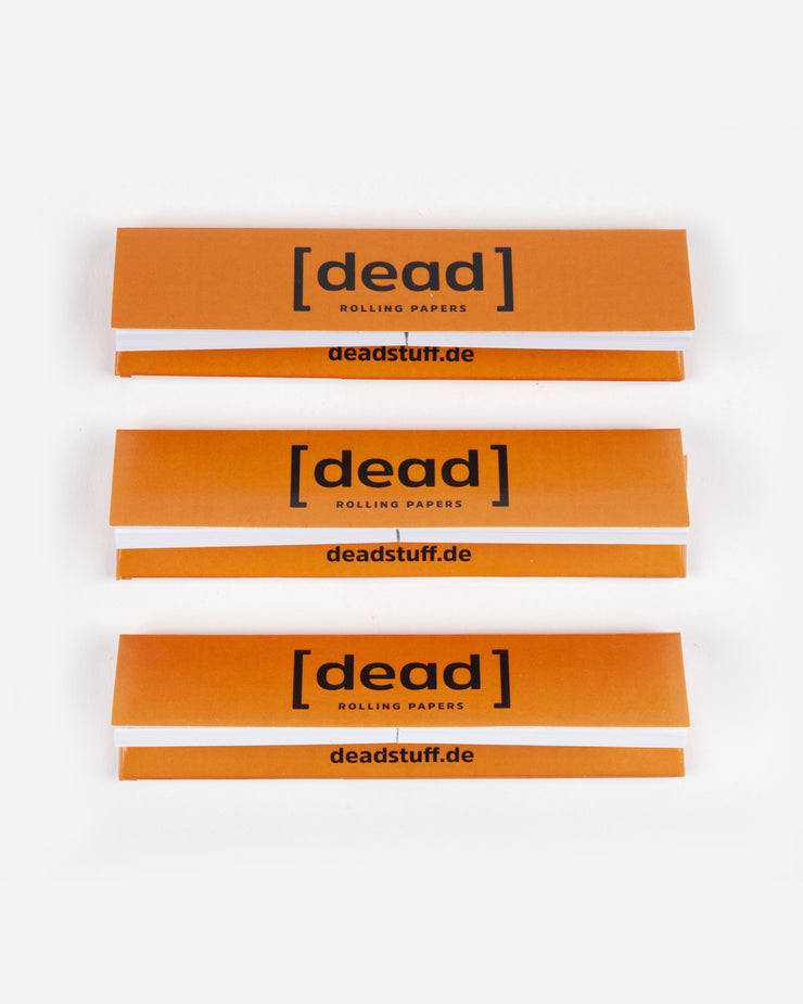 3ER PACK DEAD ROLLING PAPERS ORANGE